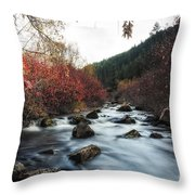 Red Oak Slow River Throw Pillow