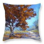 Red Oak Throw Pillow