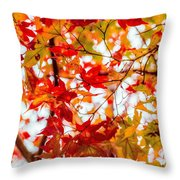 Red On A Tree Throw Pillow