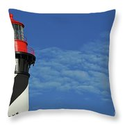 Red On Blue Skies Throw Pillow
