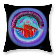Red On Violet Throw Pillow