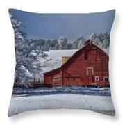 Red On White Throw Pillow