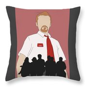 Red On You Throw Pillow