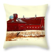 Red One And Two Throw Pillow
