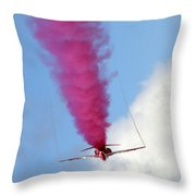 Red One Down Throw Pillow