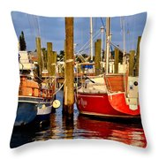 Red Or Blue Throw Pillow
