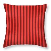 Red Orange Striped Pattern Design Throw Pillow