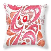 Red Orchid Cluster  Throw Pillow