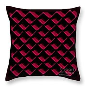 Red Ortho Throw Pillow