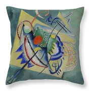 Red Oval By Vassily Kandinsky Throw Pillow