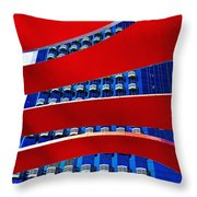 Red Over Blue Throw Pillow