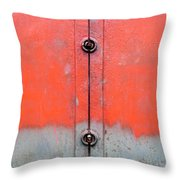 Red Over Grey Throw Pillow