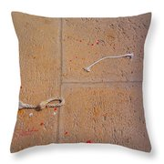 Red Paint Splash Throw Pillow