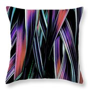 Red Palm Fronds Throw Pillow