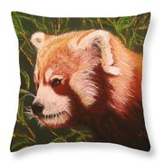 Red Panda 2 Throw Pillow