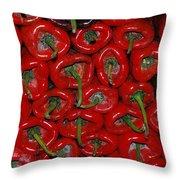 Red Paprika Throw Pillow