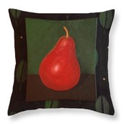 Red Pear Throw Pillow