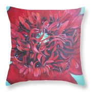 Red  Peonie Throw Pillow