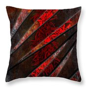 Red Pepper Abstract Throw Pillow