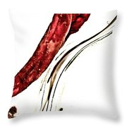 Red Pepper And Bay Leaf Throw Pillow