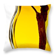 Red Pepper In Olive Oil Throw Pillow