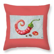 Red Pepper Throw Pillow