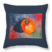 Red Pepper Solo Throw Pillow