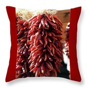 Red Peppers Throw Pillow