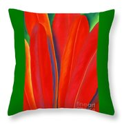 Red Petals Throw Pillow by Lucy Arnold
