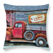 Red Pick Up Throw Pillow