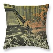 Red Pickup Throw Pillow