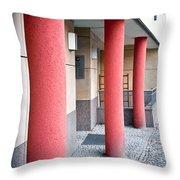 Red Pillars Throw Pillow