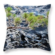Red Pine Throw Pillow