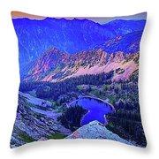 Red Pine Panorama Throw Pillow