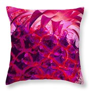 Red Pineapple Throw Pillow