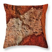 Red, Pink And Orange Throw Pillow
