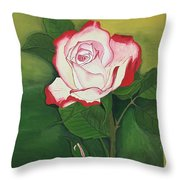 Red-pink Rose Throw Pillow