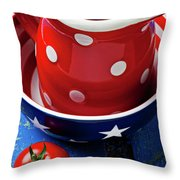 Red Pitcher And Tomato Throw Pillow