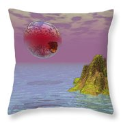 Red Planet Fantasy Throw Pillow