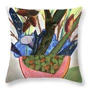 Red Planter Throw Pillow
