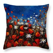 Red Poppies 451108 Throw Pillow