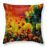 Red Poppies 451130 Throw Pillow