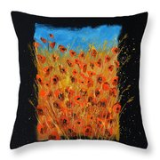 Red Poppies 6771 Throw Pillow