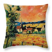 Red Poppies In Gendron Throw Pillow