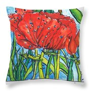 Red Poppy 1 Throw Pillow