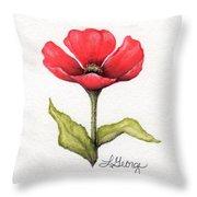Red Poppy Throw Pillow