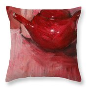 Red Pot Throw Pillow