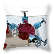 Red Pump Throw Pillow