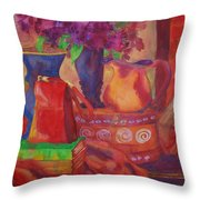 Red Purse On Green Book Throw Pillow