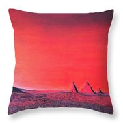 Red Pyramid W Throw Pillow